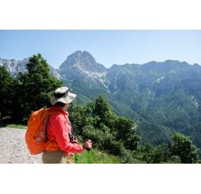 panorama sulla Val Zemola, dalla galleria del Buscada