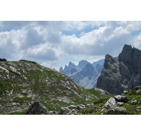 glacial moraine remains in the high Monfalcon di Forni valley