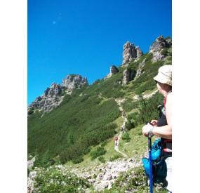 La discesa sul versante della Val di Brica