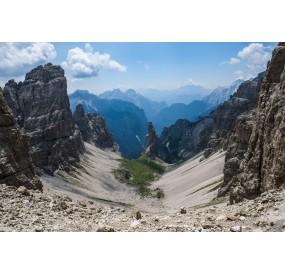The Campanile di Val Montanaia, seen from Forcella Montanaia