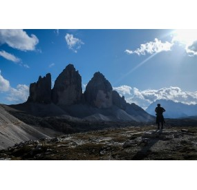 The Tre Cime from Rifugio Locatelli